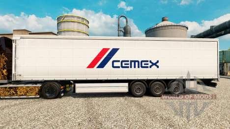 Скин Cemex на полуприцепы для Euro Truck Simulator 2