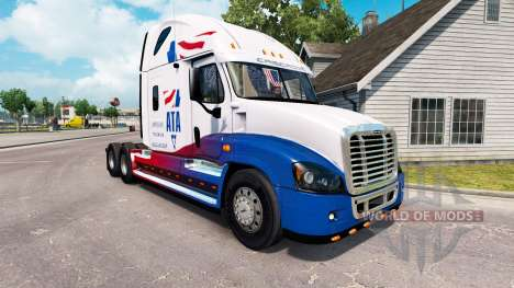 Скин A.T.A на тягач Freightliner Cascadia для American Truck Simulator