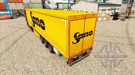 Скин Sano на полуприцепы для Euro Truck Simulator 2