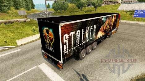 Скин S.T.A.L.K.E.R. на полуприцепы для Euro Truck Simulator 2