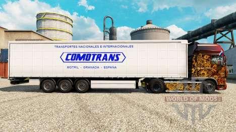 Скин ComoTrans на полуприцепы для Euro Truck Simulator 2