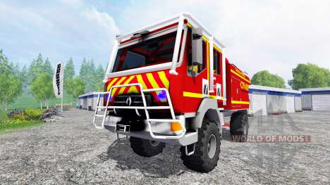 Renault Midlum Crew Cab 4x4 [sapeurs-pompiers] для Farming Simulator 2015