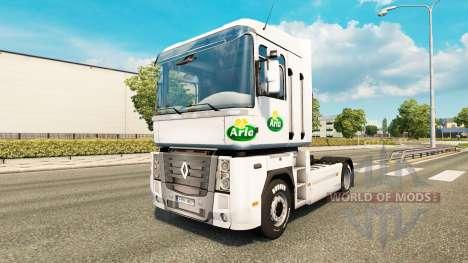 Скин Arla v2.0 на тягач Renault для Euro Truck Simulator 2
