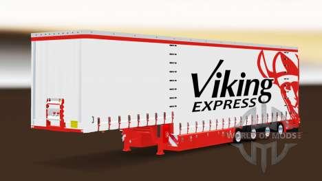 Шторный полуприцеп Krone Viking Express для Euro Truck Simulator 2