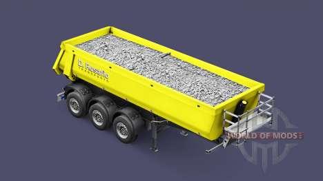 Полуприцеп-самосвал Schmitz Rosafio Transports для Euro Truck Simulator 2