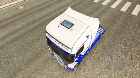 Скин Mammut на тягач Scania для Euro Truck Simulator 2