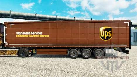 Скин United Parcel Service Inc. на полуприцепы для Euro Truck Simulator 2