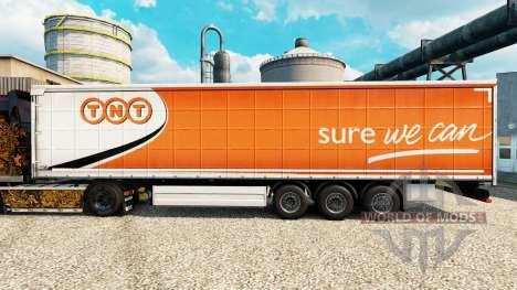 Скин TNT Express на полуприцепы для Euro Truck Simulator 2