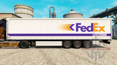 Скин FedEx на полуприцепы для Euro Truck Simulator 2