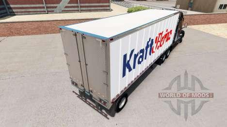 Скин Kraft Heinz на малый полуприцеп для American Truck Simulator