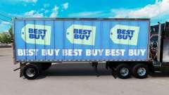 Скин Best Buy на малый полуприцеп для American Truck Simulator