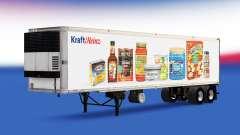 Скин Kraft Heinz на полуприцеп для American Truck Simulator