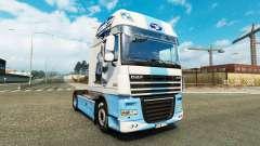 Скин HC Комета Brno на тягач DAF для Euro Truck Simulator 2