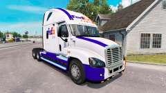 Скин FedEx на тягач Freightliner Cascadia для American Truck Simulator