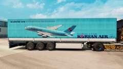 Скин Korean Air на полуприцепы для Euro Truck Simulator 2