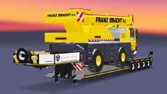 Низкорамный трал с автокраном Liebherr LTM 1030 для Euro Truck Simulator 2