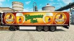 Скин Velkopopovicky Kozel на полуприцепы для Euro Truck Simulator 2