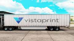 Скин Vistaprint на удлинённый полуприцеп для American Truck Simulator