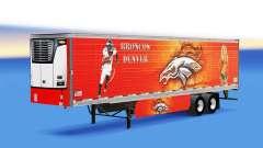 Скин Denver Bronco на рефрижераторный полуприцеп для American Truck Simulator
