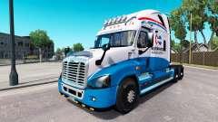 Скин North American на Freightliner Cascadia для American Truck Simulator