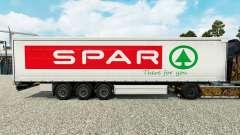 Скин Spar на шторный полуприцеп для Euro Truck Simulator 2