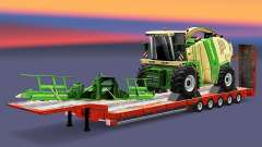 Низкорамный трал с грузами v3.1 для Euro Truck Simulator 2
