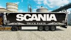 Скин Scania Truck Parts dark на полуприцепы для Euro Truck Simulator 2