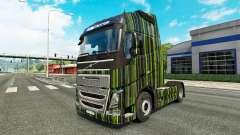 Скин Green Stripes на тягач Volvo для Euro Truck Simulator 2