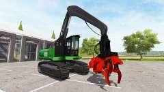 Экскаватор-харвестер dangle для Farming Simulator 2017