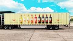 Скин E & J Gallo Winery на удлинённый полуприцеп для American Truck Simulator