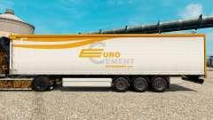 Скин Евроцемент на полуприцепы для Euro Truck Simulator 2