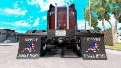 Брызговики I Support Single Moms v2.0 для American Truck Simulator