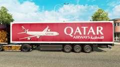 Скин Qatar Airways на полуприцепы для Euro Truck Simulator 2