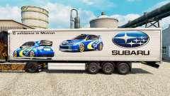 Скин Subaru на полуприцепы для Euro Truck Simulator 2