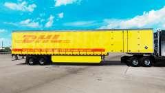 Скин DHL на шторный полуприцеп для American Truck Simulator