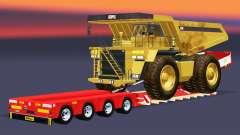 Низкорамный трал Doll Vario с Caterpillar 257M для Euro Truck Simulator 2