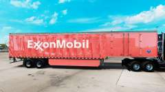Скин ExxonMobil на шторный полуприцеп для American Truck Simulator