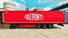 Скин Du Pont red на полуприцепы для Euro Truck Simulator 2