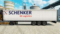Скин Schenker Logistics на полуприцепы для Euro Truck Simulator 2