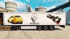 Скин Renault F1 Team v2 на полуприцепы для Euro Truck Simulator 2