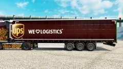 Скин UPS Inc. на полуприцепы для Euro Truck Simulator 2