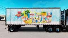 Скин Dole на малый полуприцеп для American Truck Simulator