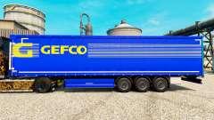 Скин Gefco на полуприцепы для Euro Truck Simulator 2