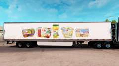 Скин Dole на удлинённый полуприцеп для American Truck Simulator