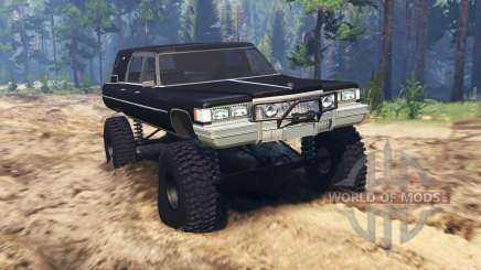 Cadillac Hearse 1975 [monster] для Spin Tires