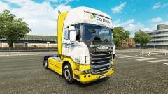 Скин Correios на тягач Scania для Euro Truck Simulator 2