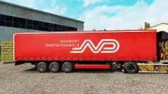 Скин Norbert Dentressangle на шторный полуприцеп для Euro Truck Simulator 2