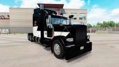 Скин White Z Stripe на тягач Peterbilt 389 для American Truck Simulator