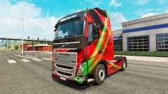 Скин Red Effect на тягач Volvo для Euro Truck Simulator 2