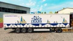 Скин Trio Trans на шторный полуприцеп для Euro Truck Simulator 2